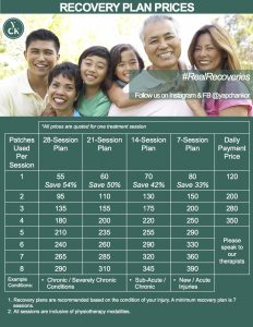 YCK Treatment Plan Price List 2018