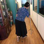 Madam Lo before treatment for knee osteoarthritis